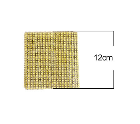 Glitter Matje Goud 12 x 90 cm