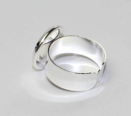 Ring Cabochonhouder Licht zilver
