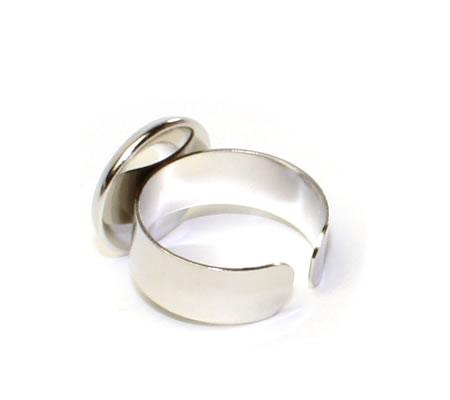 Ring Cabochonhouder Donker zilver