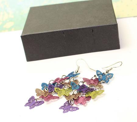 1 Paar Oorbellen kleurenmix Vlinders