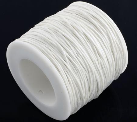 1 Meter Wax Koord Katoen Wit