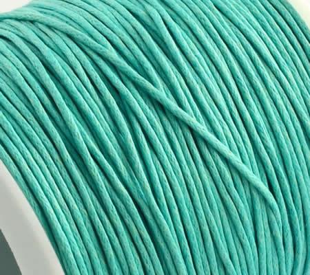 1 Meter Wax Koord Katoen Turquoise