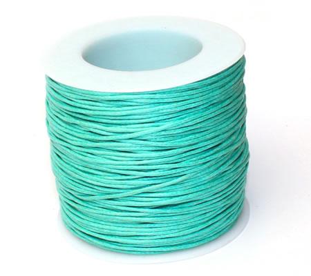 Wax Koord Katoen per meter Turquoise