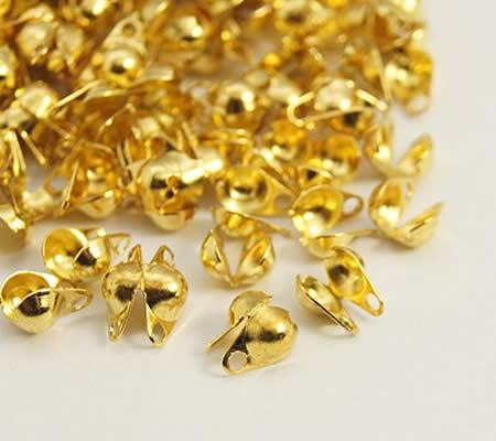 4 stuks kalot goudkleurig zijopening