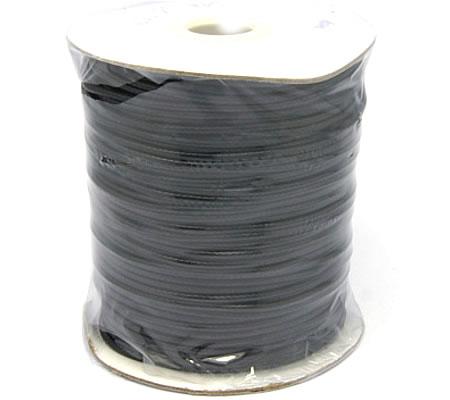 "1 Meter nylon ""iets stug"" wax koord 2mm Zwart"