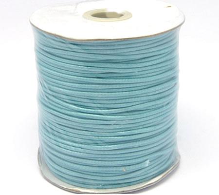 1 Meter nylon soepel vallend wax koord Turquoise