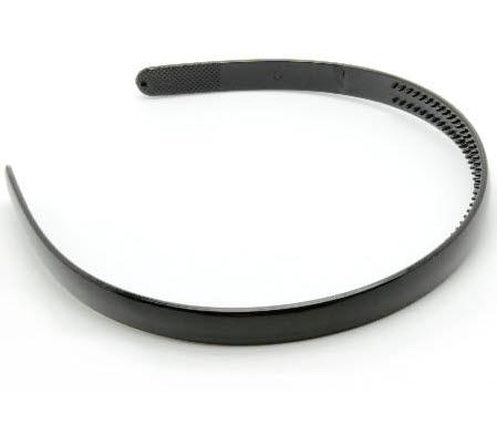 1x acryl diadeem Zwart 11.5 mm