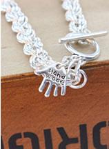 Armband van open ringetjes